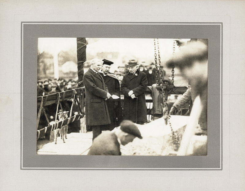 Photograph of the Arts Building cornerstone ceremony