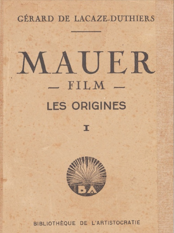 Book cover: Mauer film les origines, le monde avant Mauer
