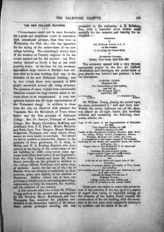 Page 153 of the Dalhousie Gazette, volume 19, issue 12