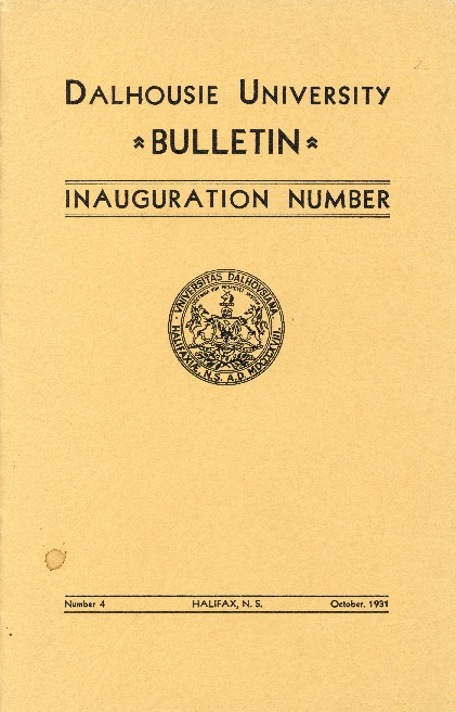 Dalhousie University Bulletin: Inauguration number