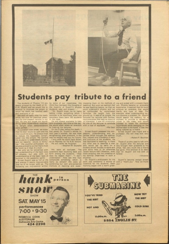 Students pay tribute to a friend