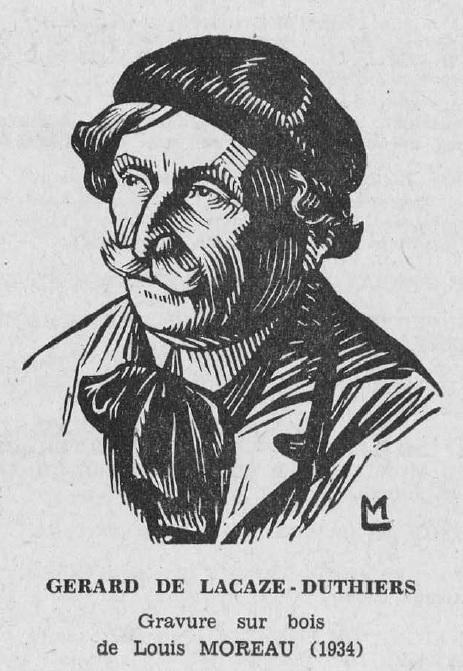 Portrait drawing of Gérard de Lacaze-Duthiers