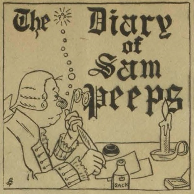 """The Diary of Sam Peeps"" column banner"