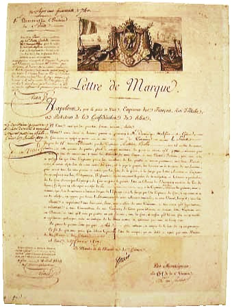 Letter of Marque, 1809