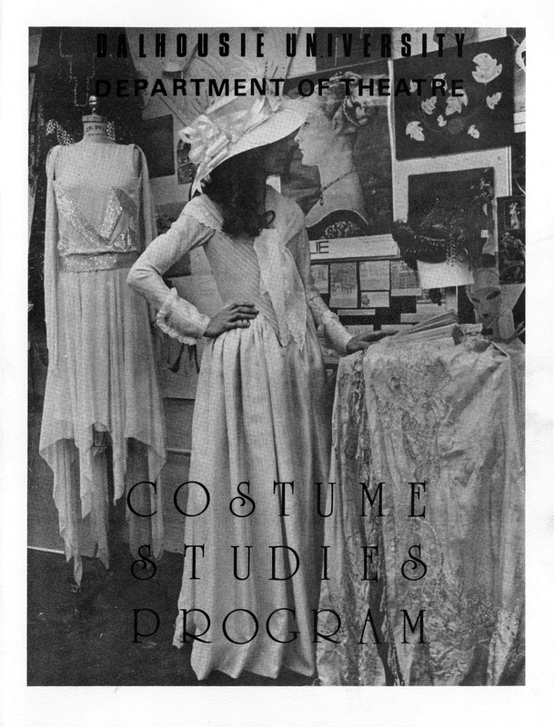 Pamphlet about the Dalhousie University Department of Theatre costume studies program