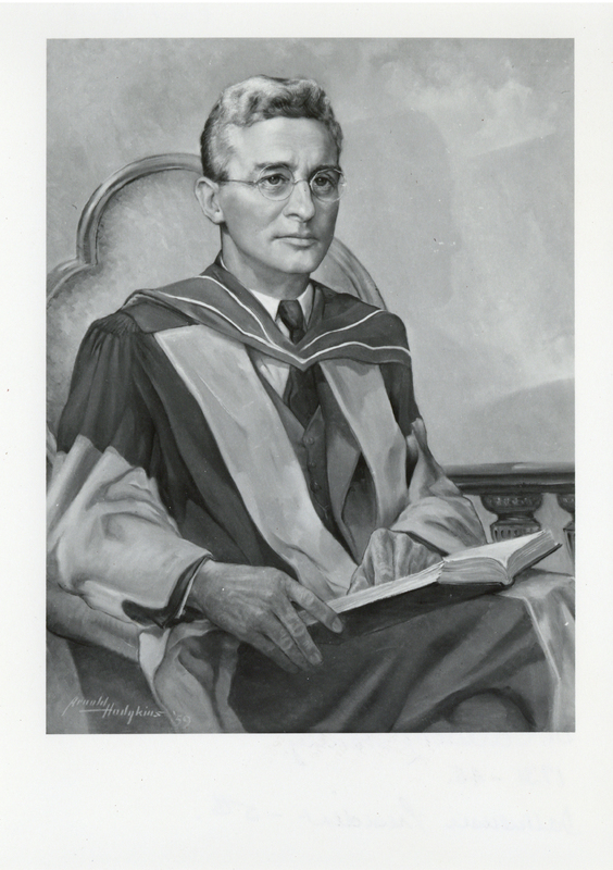 Photograph of a painting of Dr. Carleton Wellesley Stanley