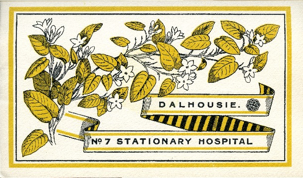 Brochure on the history of the Dalhousie University No. 7 Stationary Hospital