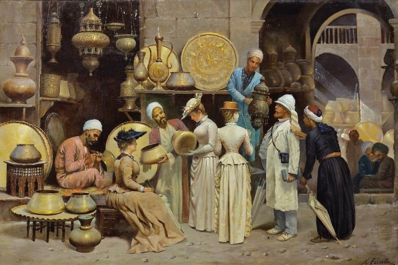 Nicola Forcella's 'Dans le souk aux cuivres' (c. 1868)