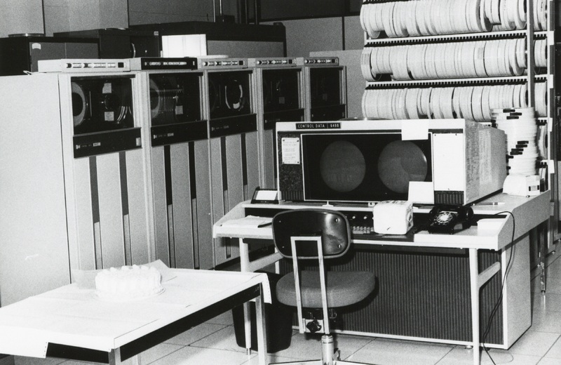 Photograph of the CDC 6400 computer in the Dalhousie Computer Centre