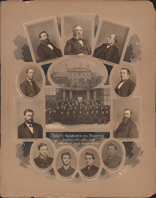 Composite photograph of the Dalhousie College faculty, graduates, and students 1869-1870