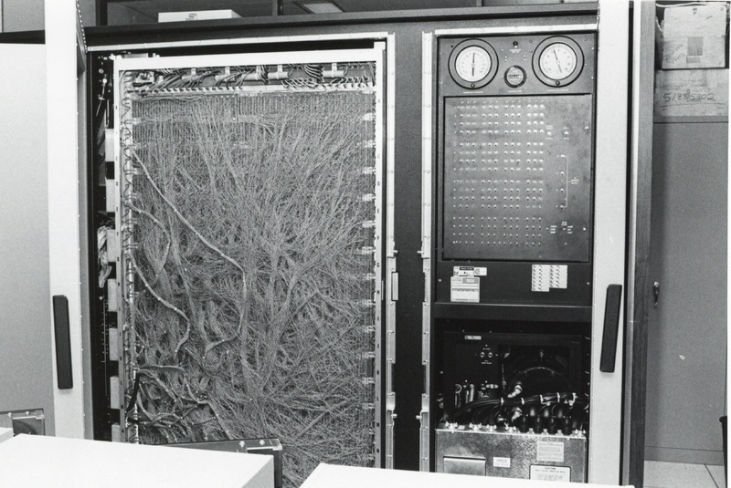Photograph of the Cyber 170 computer in the Dalhousie Computer Centre