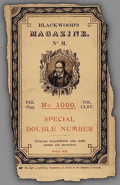 Blackwood's Magazine, 1899 cover