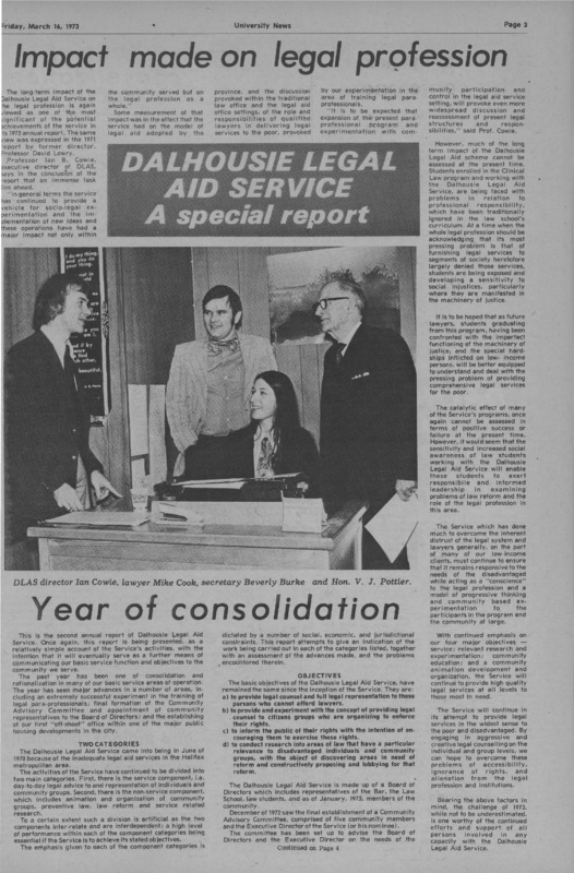 Dalhousie Legal Aid Service: A special report