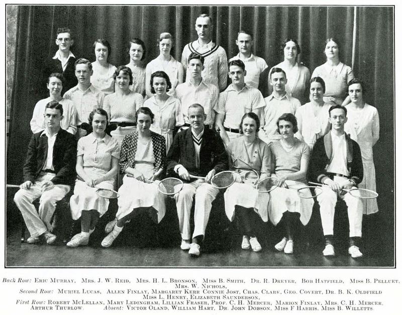 Photograph of the 1933 Dalhousie badminton club