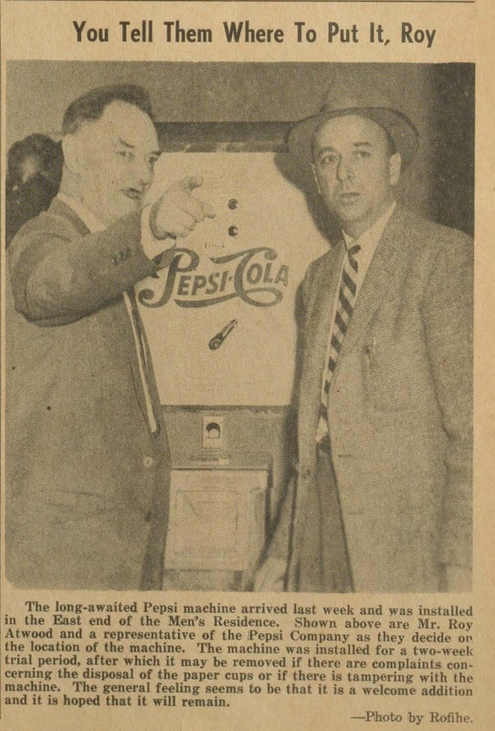 Photograph of Roy Atwood with a member of the Pepsi company