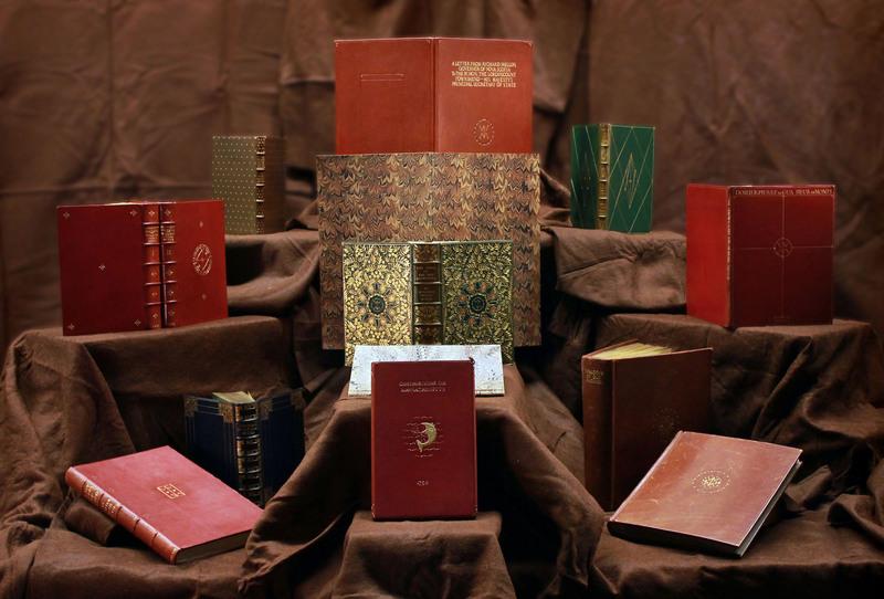 Cockerell Book bindings display