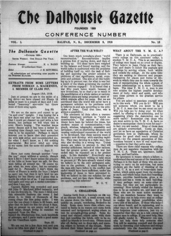 The Dalhousie Gazette, Volume 50, Issue 15