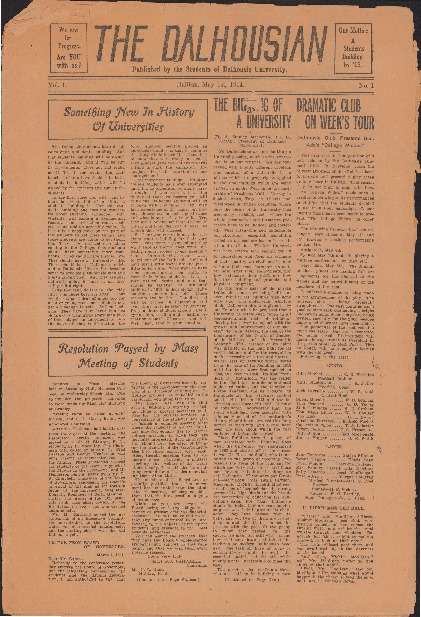 The Dalhousian, Volume 1, Issue 1