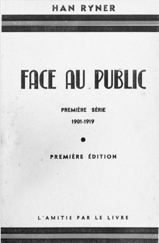 Book cover: Face au public