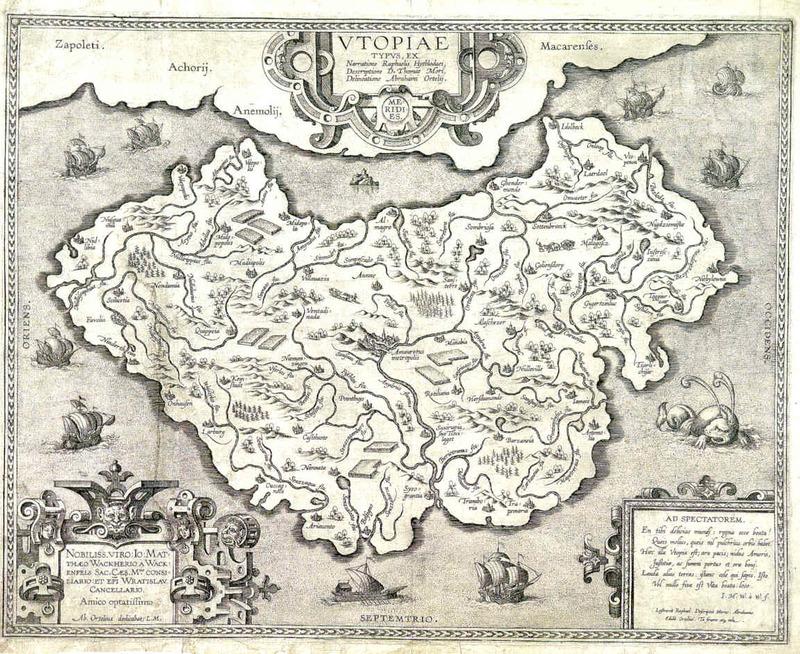 Abraham Ortelius's map Thomas More's Utopia
