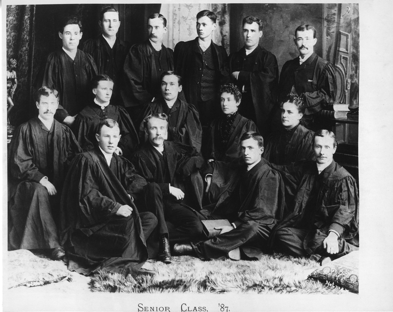 Photograph of the class of 1887