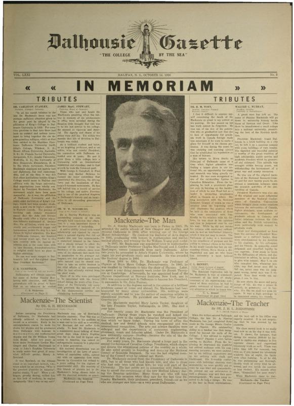 Dalhousie Gazette, Volume 71, Issue 3