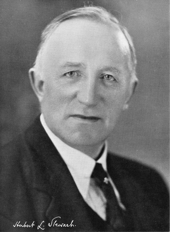 Signed black-and-white publicity photograph of Herbert Leslie Stewart