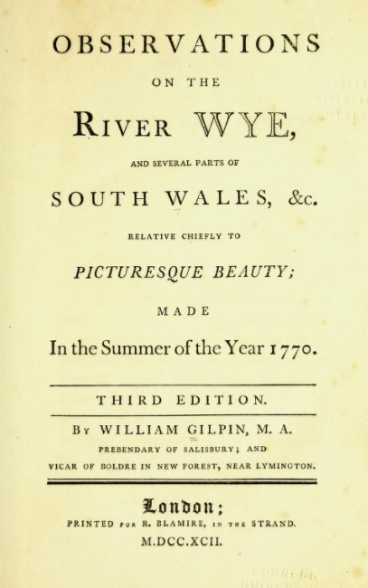 Title page of William Gilpin's Observations on the River Wye