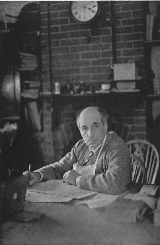 Photograph of Douglas Cockerell in his workshop