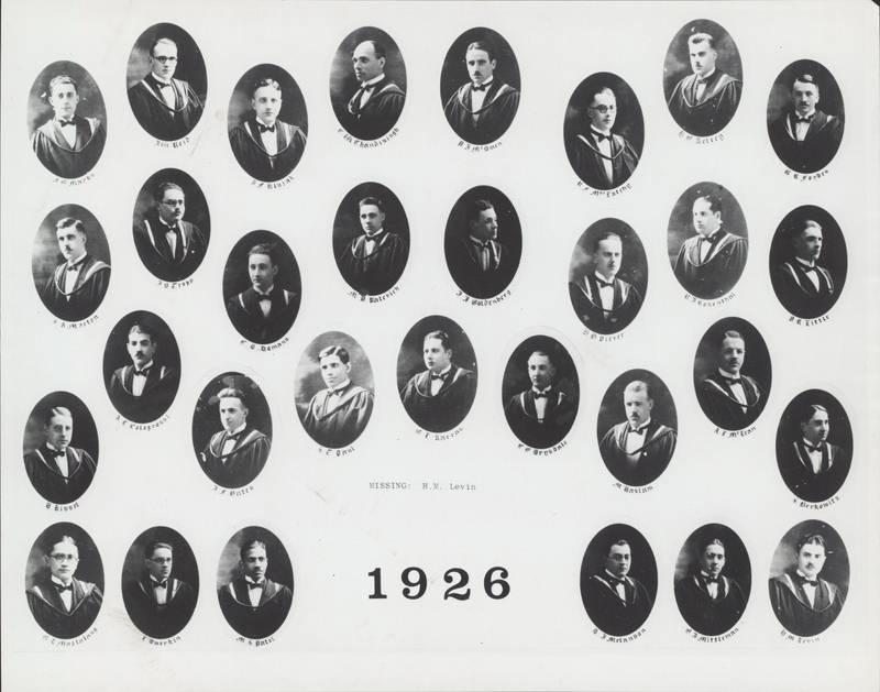 Faculty of Medicine Class Photograph - 1926