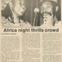 Africa night thrills crowd
