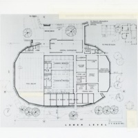 Drawing of the floor plan of Dalplex