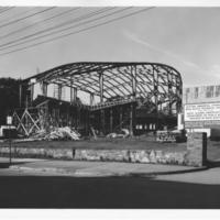 Photograph of the F. H. Sexton Memorial Gymnasium construction