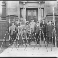 Photograph of students in the Nova Scotia Technical College short course in land surveying
