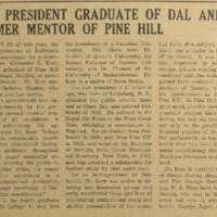 New President Graduate of Dal and Former Mentor of Pine Hill