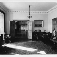 Photograph of the Victorian lounge in Shirreff Hall