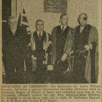 Photograph of W. McGregor Stewart, Dr. A. E. Kerr, Colonel K. C. Laurie, and Dr. Lewis William Douglas