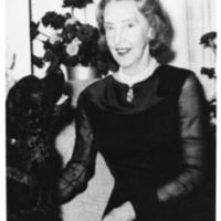 Photograph of Dorothy Johnston Killam with a dog