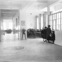 Photograph of a waiting room in the public health clinic