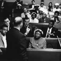 Photograph of a meeting at the Seaview African Baptist Church