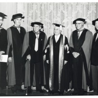Photograph of Dalhousie faculty members at convocation