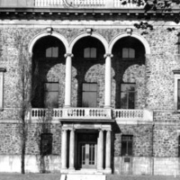 Photograph of the front entrance of the Public Archives building