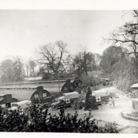 Photograph of a convoy arriving in Arques, France