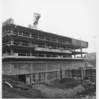 Photograph of the west corner of the Killam Memorial Library construction