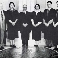 Photograph of the life officers of 1956