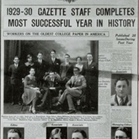Yearbook page about the Dalhousie Gazette