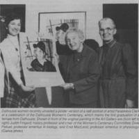 Photograph of Judith Fingard, Dixie Pelluet, and Enid MacLeod
