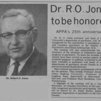 Dr. R. O. Jones to be Honored