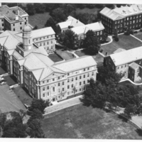 Aerial photograph of the Henry Hicks Arts & Administration Building