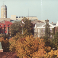Photograph of Studley campus in the fall